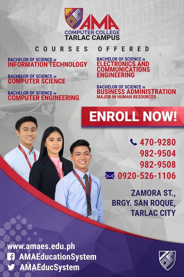 AMA Tarlac Course Offerings