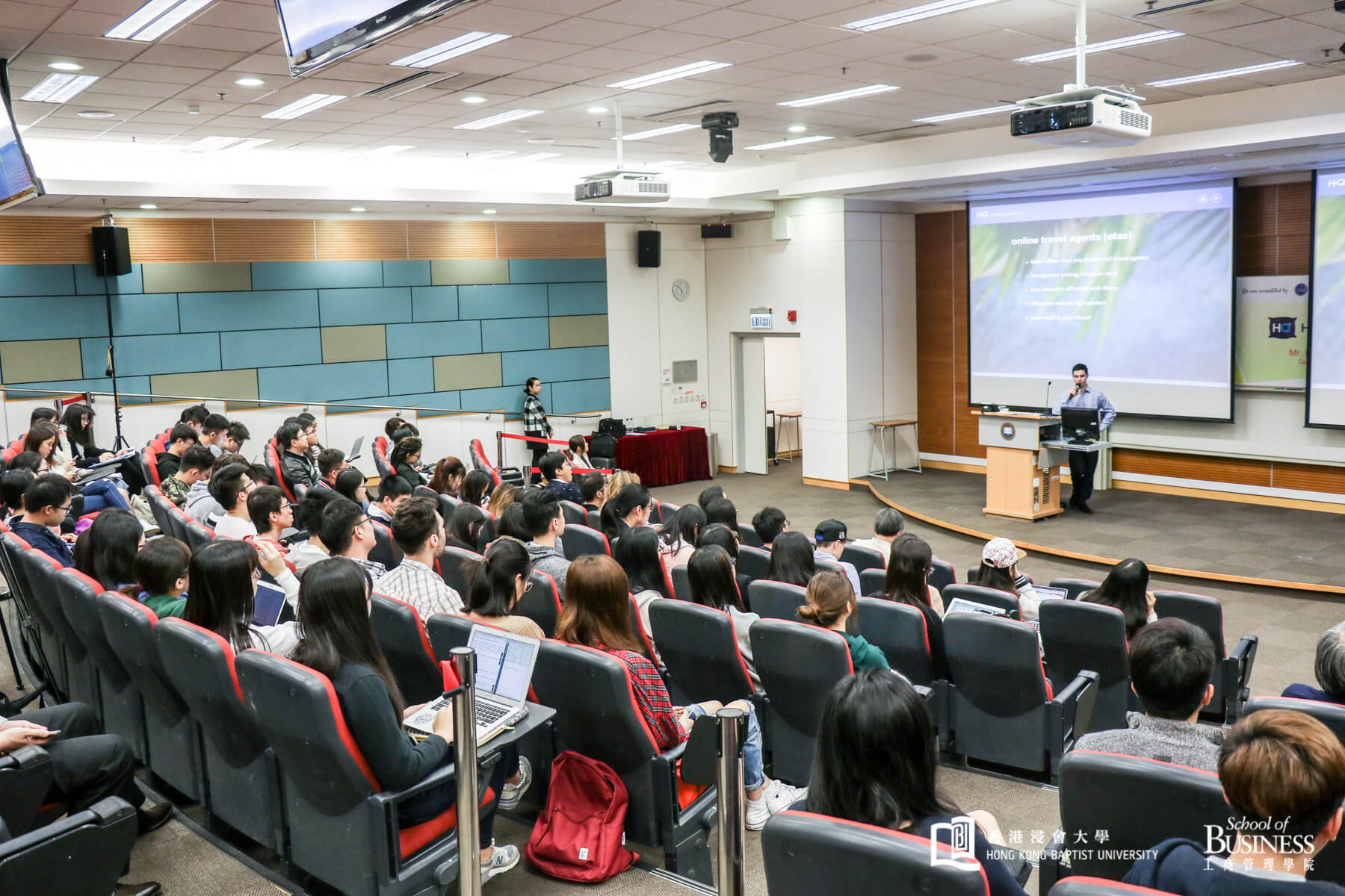 Hong Kong Baptist University- Lecture Theatre at the Wing Lung Bank Building for Business Studies